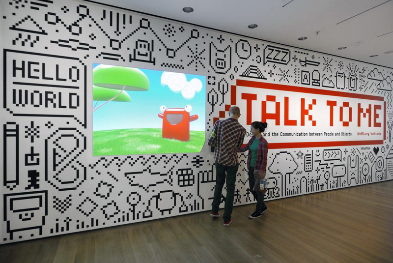 """""""Talk to Me"""" Exhibit by the Museum of Modern Art's in-house design studio."""