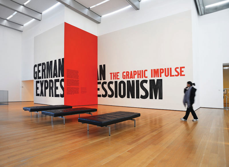 """""""German Expressionism"""" by The Museum of Modern Art's in-house design team."""